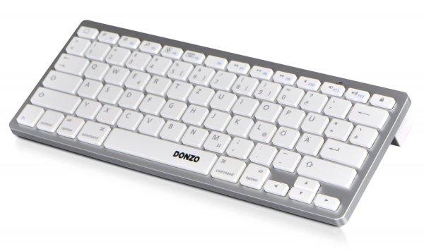 Donzo Bluetooth Tastatur optional Apple-/Windows-Stil schwarz/weiß ab 9,23€ Amazon Prime Avanto