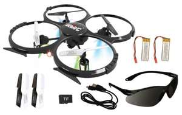 Quadrocopter UDI RC U818A mit Kamera + 2 Akkus + 2 GB Micro SD + Sonnenbrille [ebay WOW]