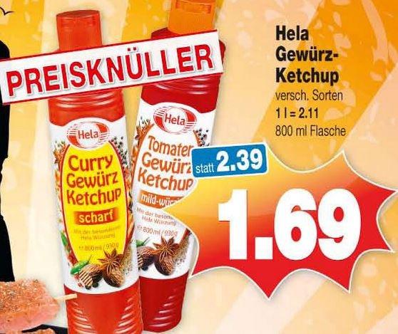 [Kaufpark] Hela Gewürz-Ketchup versch. Sorten für 1,69 €