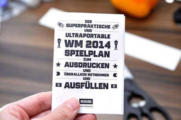 Schicker WM 2014 Spielplan gratis zum Runterladen
