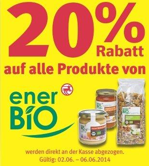 [offline/TLW. online] Rossmann - 20 % Rabatt auf enerBiO-Produkte