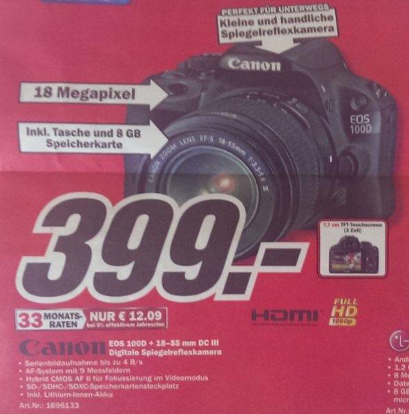 [MM Bundesweit + Online] Canon EOS 100D + 18-55 mm DC III
