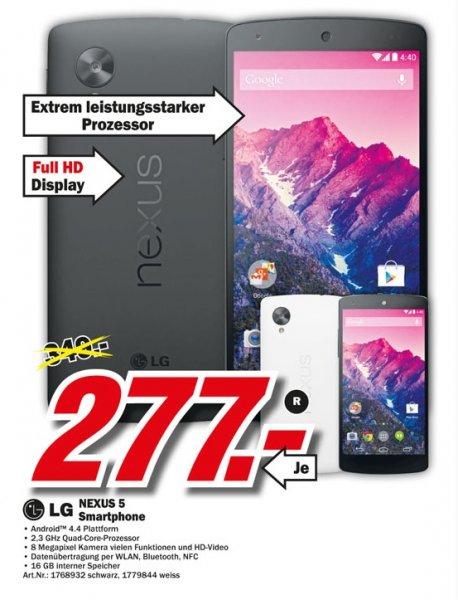 LG Nexus 5 16GB für 277€ Lokal [Mediamarkt Düsseldorf]