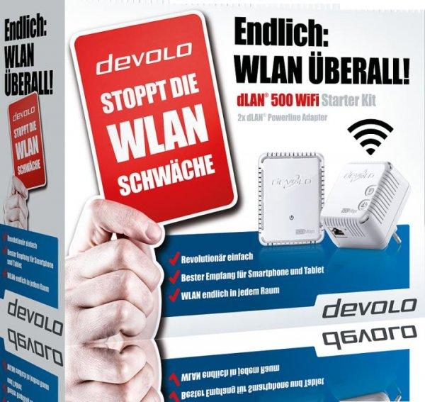 Devolo dLAN 500 WiFi Starter Kit für 69,- Euro inkl. VSK @comtech