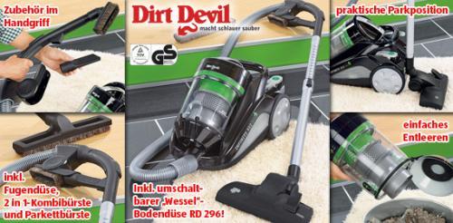 Dirt Devil Multizyklonenstaubsauger Infinity V12 eco