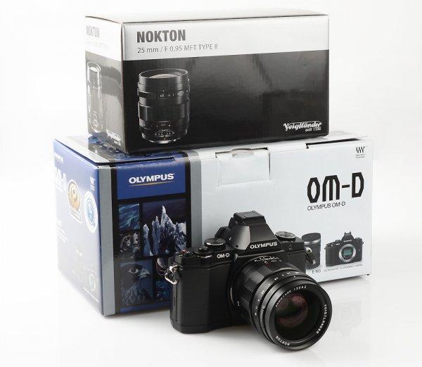 Olympus OM-D E-M5 Body + Voigtländer Nokton 0,95/25mm II + HLD-6 für 1499,99 €