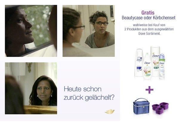 2 Dove Produkte bei Amazon kaufen und gratis Beauty Case oder Körbe bekommen