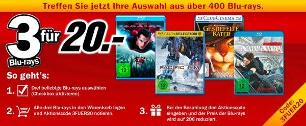 [mediamarkt.de] 3 Blu-rays für 20€