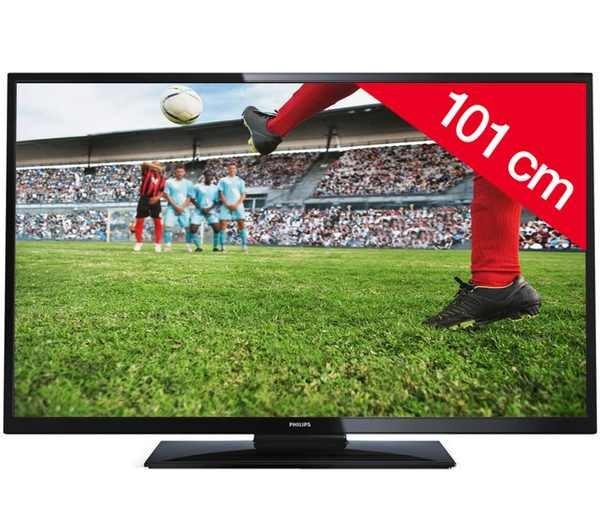 PHILIPS LED-Fernseher 40PFL3008H HD TV 1080p 40 Zoll 16/9 100Hz DVB-T HDMI x2 @Pixmania.de