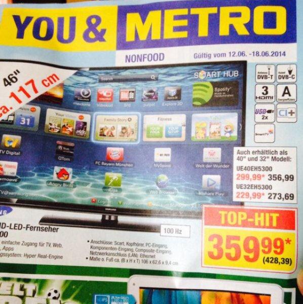 "Samsung 46"" LED-TV für 359,99€"