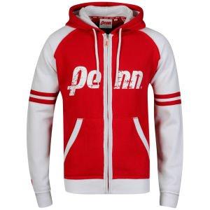 [thehut] Penn Men's Zip Thru Loo Hoody - Red/White/Red leider nur in Grösse S
