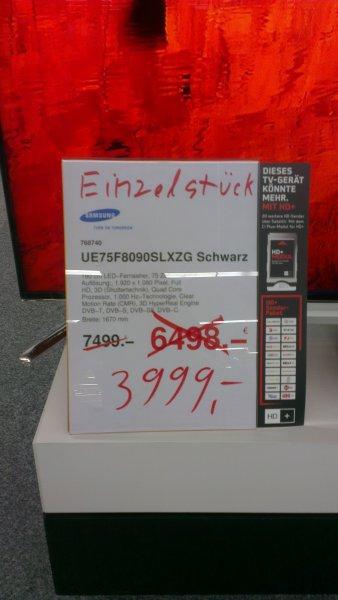 Lokal Medimax Bergisch Gladbach Samsung UE-75F8090 für 3999,-