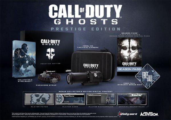 [Game.co.uk] Call of Duty Ghosts Prestige Edition für Playstation 3 oder xBox 360 für ca. 65,31€