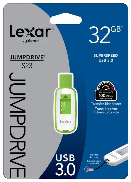 """Lexar™ - 32GB Speicherstick """"S23"""" (USB3.0,100/55 MB/s) für €13,49 [@Mymemory.co.uk]"""