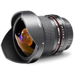 Walimex pro 8 3,5 Fish-Eye II Objektiv für  Canon (EF-S-Anschluss) 289,99€.