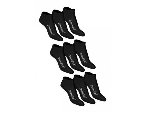 [MeinPaket] CATERPILLAR Sneaker Socken Füßlinge 9 Paar 3x 3er Pack schwarz inkl. Versand