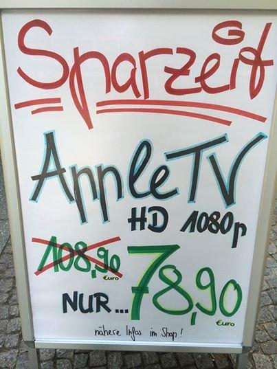 Lokal (Berlin): Apple TV 3 1080p für nur 78,90 EUR