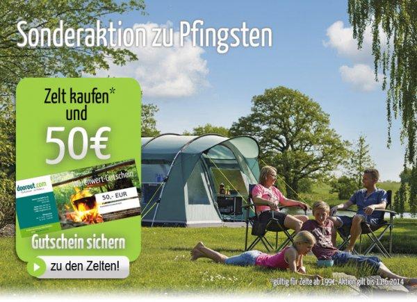 doorout.com: Jetzt Zelt kaufen und 50€ Gutschein sichern !