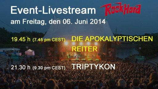 RockHard Livestream mit den Apokalyptischen Reitern und Triptykon ab 19:45 Uhr