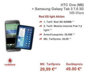 Vodafone Red XS + UMTS-Flat inkl HTC One + Galaxy Tab Lite oder Galaxy S5 + Galaxy Tab Lite für 800€ @Preisbörse24