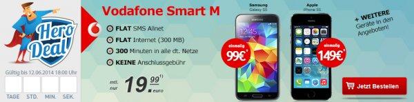 Samsung S5 NB  / HTC One NB  + Vodafone Smart M SIM @handytick