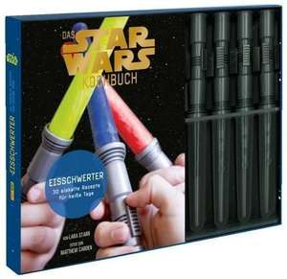 Für die Star Wars Fans unter euch --> Star Wars Kochbuch inkl. 4 Eisförmchen in Laserschwert-Optik