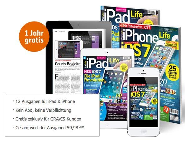 iPad Life und iPhone Life (ePaper) - 1 Jahr kostenlos @Gravis