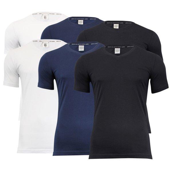 Details zu  4er Pack Pierre Cardin T-Shirts V-Neck Rundhals Farbwahl S M L XL XXL 3XL NEU inkl. VSK