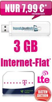 MD-Telekom 3,0 GB Datentarif mit Hotspot und HSDPA Surfstick für rechnerisch 7,99 EUR / Monat