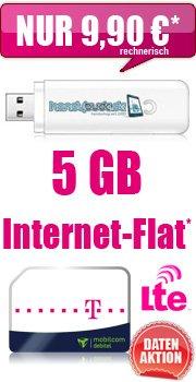 MD-Telekom Datentarif 5,0 GB mit HSDPA Surftick für rechnerisch EUR 9,90 / Monat
