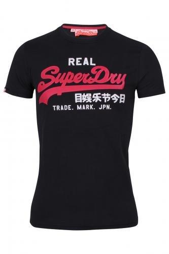 Superdry T-Shirt Vintage, schwarz