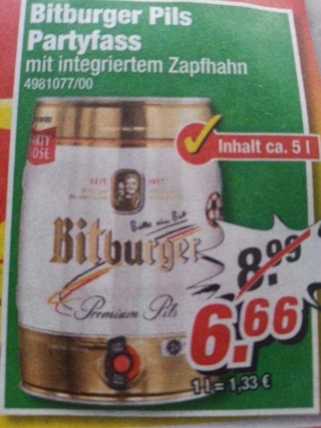 Bitburger Pils Partyfass 5 Liter bei Poco