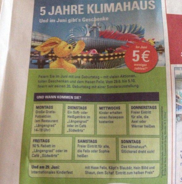 Klimahaus Bremerhaven Eintritt 5 Euro günstiger im Juni