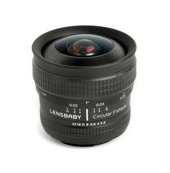 Lensbaby Circular Fisheye 5.8mm f/3.5 Objektiv für Canon @ Amazon.fr, Vergleichspreis EUR 269,99