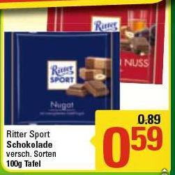 Ritter Sport für 0,59€ 100g @ Marktkauf (bundesweit?)