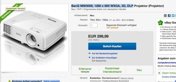 BenQ MW3009, 1280 x 800 WXGA, 3D, DLP für 299,99Euro baugleich TW523P
