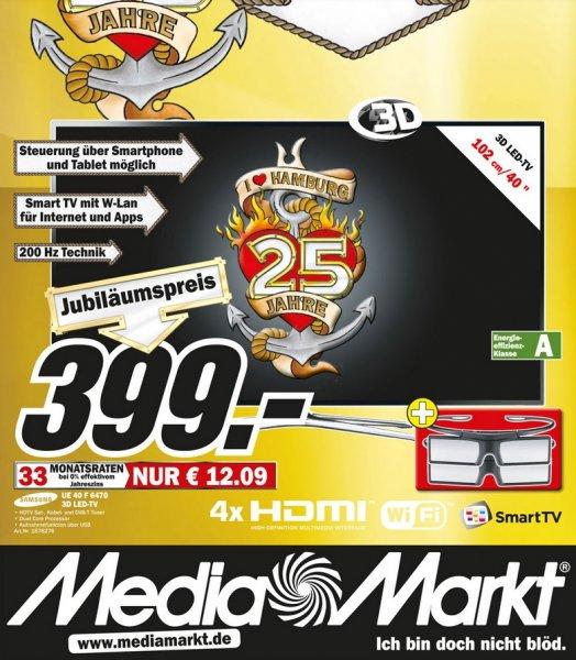 Samsung UE40F6470 für 399€ Lokal [Mediamarkt 25 Jahre Hamburg]