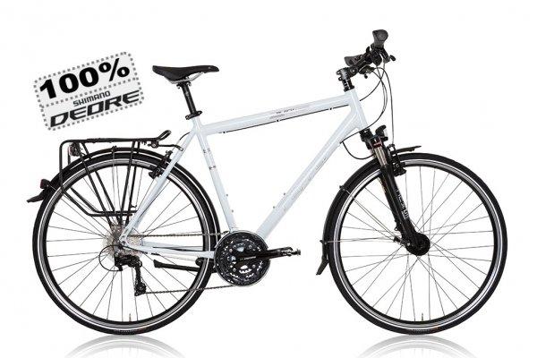 Trekkingbike Black Pepper in weiß aktuell 658,90,-€ (sonst 728,90-€) Deore Komplettgruppe, Continental Contact, SKS etc.