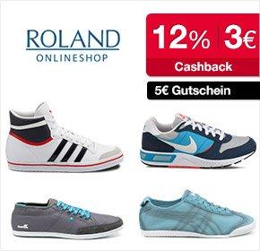 Roland Schuhe bei Qipu: 12% Cashback + 5€ Newsletter-Gutschein + 3€ für Neukunden, MBW 19,95€, nur bis Sonntag (15.06.)
