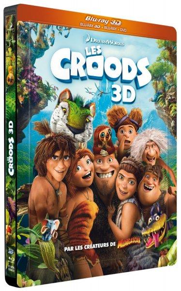 Die Croods Blu-ray 3D + Blu-ray + DVD (Steelbook Combo) für 19,99€ @Amazon.fr