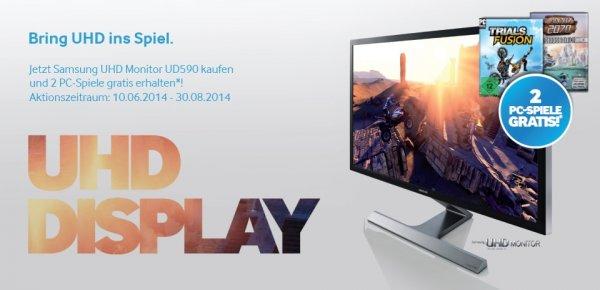 Samsung 28 Zoll UHD Monitor U28D590D kaufen und 2 Ubisoft-Spiele gratis dazubekommen