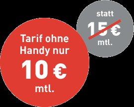 BASE smart ohne Handy bestellen: Nur bis 30.06. Aktions-Vorteil sichern / 10€ / Monat