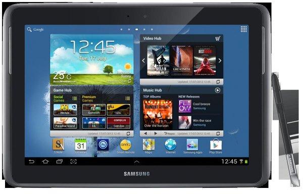 SCHWEIZ: Samsung N8010 Galaxy Note, silber für CHF 199.95 (ca. 163.- Euro)