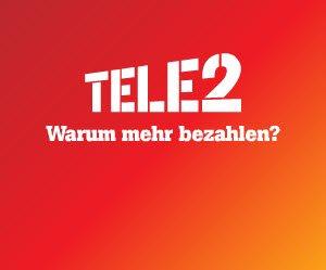 """TELE2 """"Allnet Flat Online Special"""" nur 9,95€/Monat + 25€ GUTSCHEIN + 3 Monate GRATIS"""