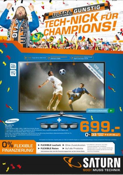 Samsung LED TV UE55F6340 bei Saturn Berlin/Potsdam für 699,-