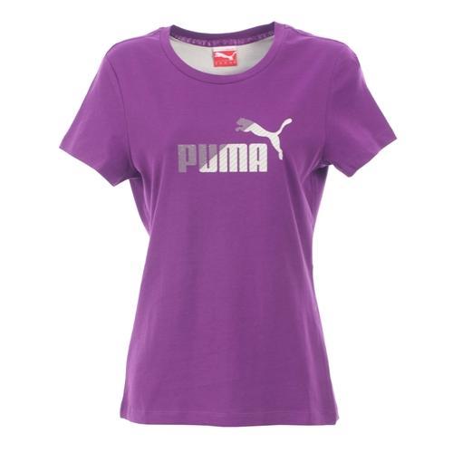 Puma - Damen Logo T-Shirt (Purple/Lila) [@Play.com]
