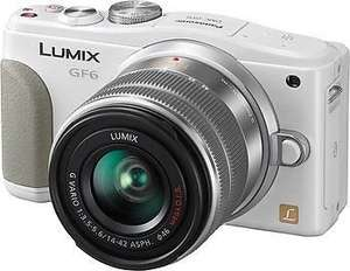 Panasonic Lumix DMC-GF6 Kit mit 14-42mm in weiß für 299,- Euro (Neuware bei Ebay, 100% Händler, 6 verfügbar)