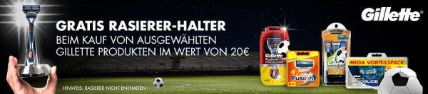 Gratis Gillette Rasierer-Halter beim Kauf von ausgewählten Gillette Produkten @ Amazon