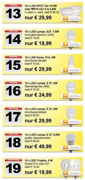 Täglich LED Lampen günstig kaufen - 50-75% Ersparnis