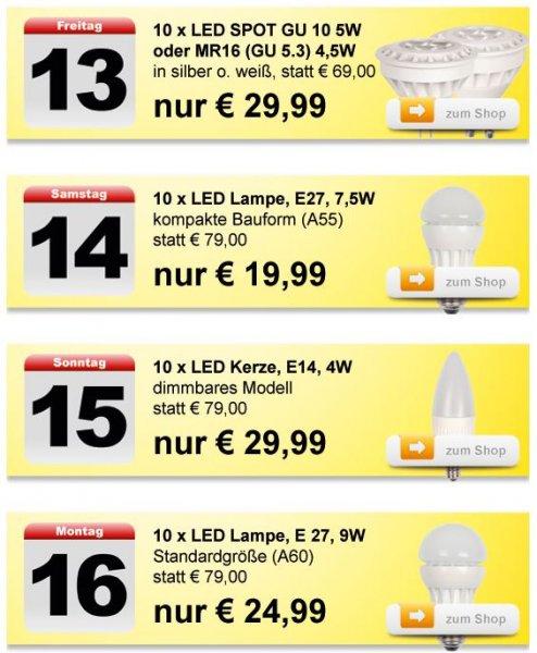 LED Leuchtmittel von LCTW Aktion